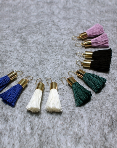 Simple Tassel Earring_Lavender