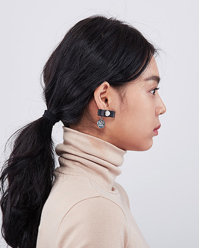 Leather Pendant Earring