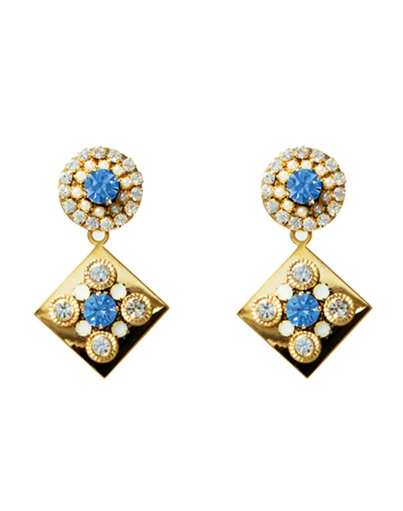 skyblue_crystal emblished earring